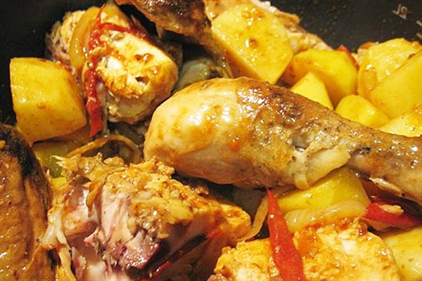 Калорийность курицы с картошкой