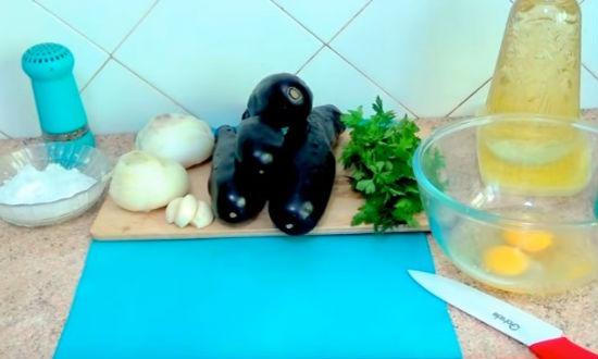 Продукты для блюда из баклажан