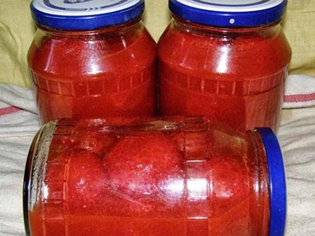 Помидоры в собственном соку на зиму, рецепт без стерилизации