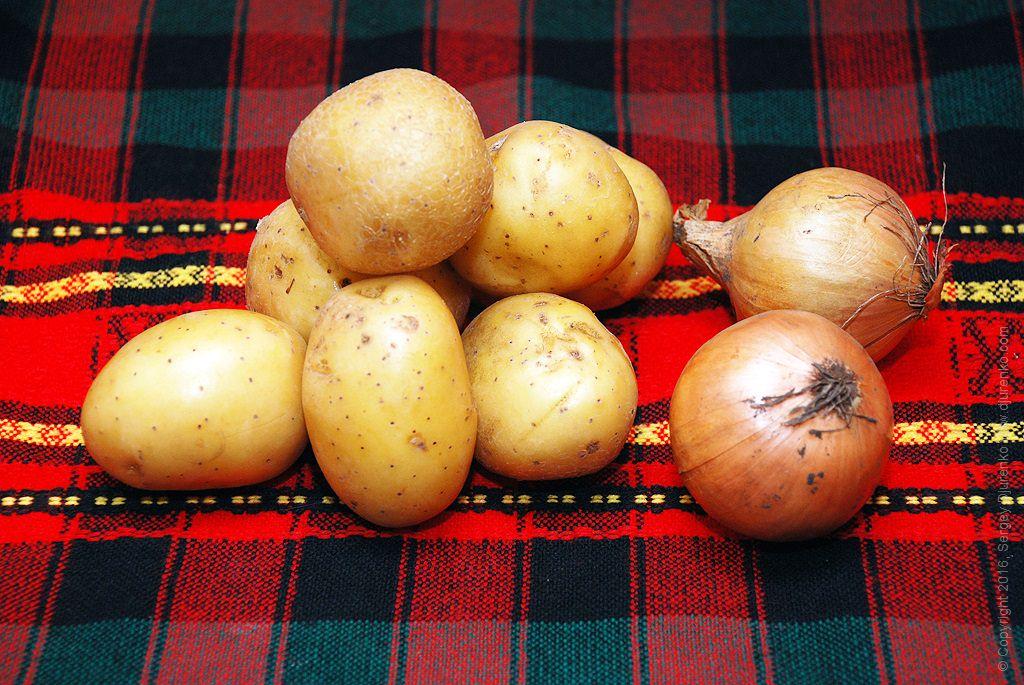 Как приготовить Картошка жареная насковороде. Шаг 1: Картошка и лук для жарки