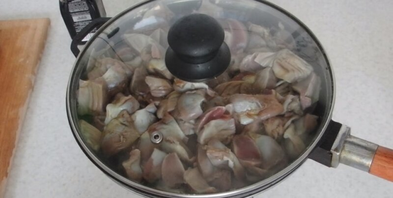 желудки в сковороде