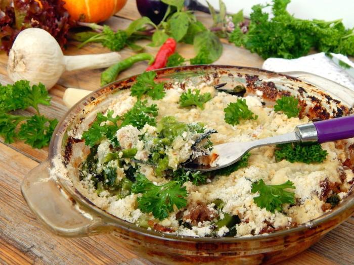Рецепт 1. Запеканка из цветной капусты с фаршем