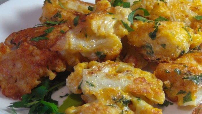 Жареная цветная капуста в сырном кляре