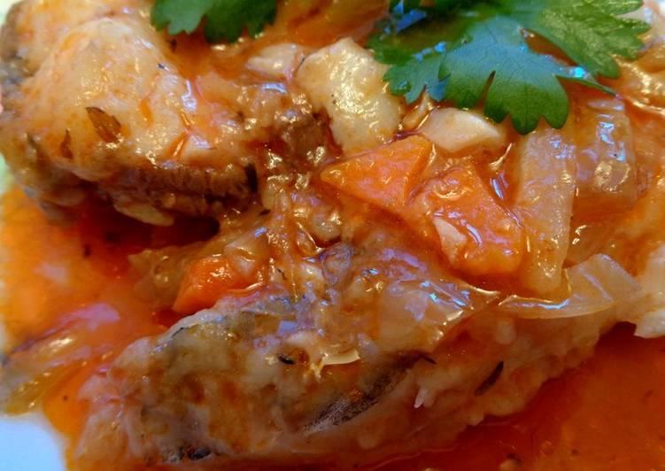 Рецепт рыбы тушеной в овощах