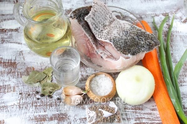 Ингредиенты для хе из толстолобика по-корейски в домашних условиях
