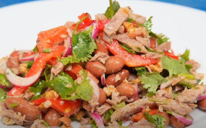 Салат тбилиси с говядиной и красной фасолью рецепт