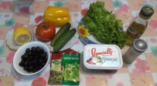 Греческий салат с брынзой – классический пошаговый рецепт