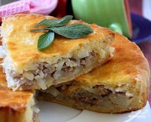 Пирог с картошкой и мясом в духовке – рецепты приготовления