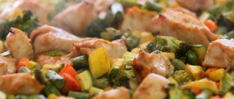 Курица терияки с овощами рецепт