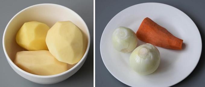 Описание: Морковь, картофель, лук