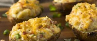 Картошка с фаршем в духовке под сыром