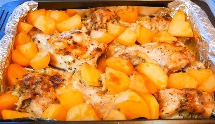 Очень вкусный кролик в духовке с картошкой