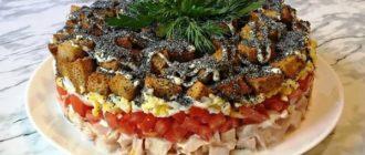 Салат курица под кайфом рецепты