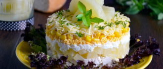Салат курица с ананасами рецепт классический рецепты