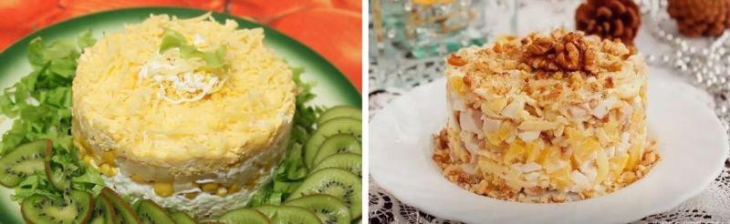 Салат с курицей и ананасом — классический простой рецепт с майонезом 2