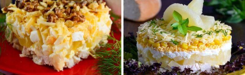 Салат с курицей и ананасом — классический простой рецепт с майонезом 3